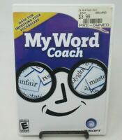 MY WORD COACH GAME FOR NINTENDO Wii, GAME DISC, CASE, MANUAL, IMPROVE VOCABULARY