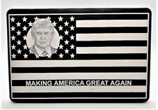 "MAGA AMERICAN FLAG, Billet Aluminum Trailer Hitch plug Cover, 3"" X 5"""
