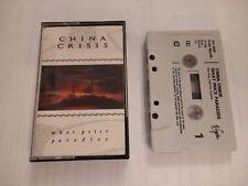 CHINA CRISIS * WHAT PRICE PARADISE * CASSETTE ALBUM EXCELLENT 1986