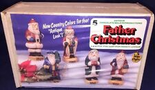 Wee Crafts Father Christmas 3-D Style Kit 5 Antique Chocolate Mold Reproductions