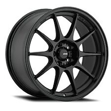 15x9 Konig 57B Dekagram Matte Black Wheels 4x100 (35mm) Set of 4