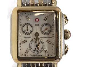 Michele DECO Diamond Two-Tone Women's Watch MW06V00C9046 Sapphire Cr (HE2033895)