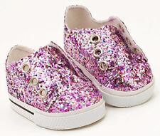 "NIP- Pinks Glitter Sneakers fit 18"" dolls inc. American Girl, Bitty Baby"