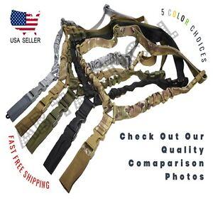 Heavy Duty Tactical Single Point Gun Rifle Sling w/ Quick Detach QD Buckle USA
