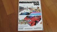1977 Indy 500 Indianapolis race program hard 2 find A J Foyt wins in Ford Coyote
