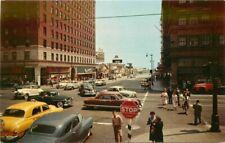 Autos Hollywood Vine California 1950s Postcard Crocker Souvenir 6003