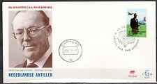 Dutch Antilles - 1971 60th birthday Prince Bernhard - Clean unaddressed FDC!