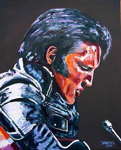 Elvis Original Pop Art PAINTING Artist DAN BYL Modern Celebrity Huge 4x5ft