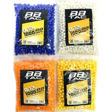 BBTac 1000 Bag .12g 6mm BBs for Airsoft Guns (Random Assorted Colors)