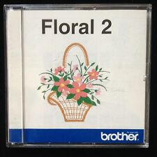 Flowers Floral 2 Flowers Embroidery Designs Card for Deco Brother Baby Lock