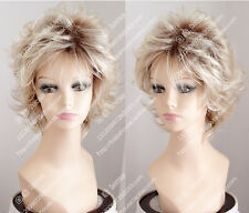 2017 new wig Golden Blonde Short curly hair Fashion women wig everyday life wig