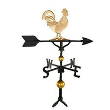 Montague Metal Products 300 Series 32 In. Deluxe Gold Rooster Weathervane