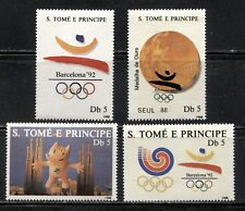 SAO TOME AND PRINCIPE,  1988, SPORT: SEOUL & BARCELONA OLYMPICS Sc 834-837 MNH