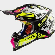 LS2 Subverter MX470 Triple X MX Offroad Helmet Black/Pink/Hi-Vis