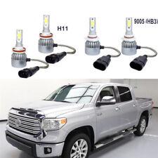 4Pcs LED 9005+H11 Headlight Hight Low Beam Bulbs Kit Set for Toyota Tundra 07-13