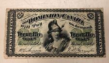 1870 Dominion of Canada Twenty-Five Cents Banknote