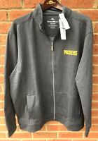 $175 TOMMY BAHAMA MENS GREEN BAY PACKERS FULL ZIP JACKET COAT GRAY XXL 2XL NWT