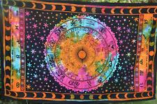 Twin Indian Mandala Tapestry Wall Hanging Cotton Bed Throw Zodiac Boho Decor UK