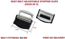 BLACK CITROEN Seat Belts Safety Adjustable Stopper Buckle Plastic Clips 2PCS