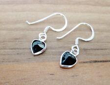 925 Sterling Silver - Heart Shaped CZ Cubic Zirconia Hook Earrings - 4, 6 & 8mm