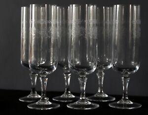6 flûtes à champagne cristal d'Arques modèle Matignon