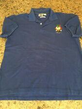 Taz Tazmanian Devil Golf Acme Clothing Co Cotton Polo Shirt Size Large Blue