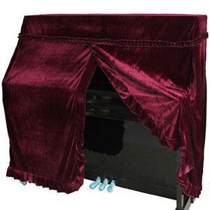 Piano Covers Upright Elegant Pleuche Piano Cover Full Size 152x60x110cm Red