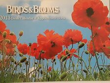BIRDS & BLOOM 2013 desk Calendar & Appointment Book Unused