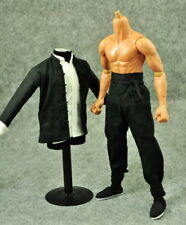 Custom Black Chinese-style Costume Kung Fu Set 1/6