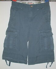 MOSSIMO SUPPLY CO, - T BLUE 100%COTTON  - CARGO SHORTS - 10
