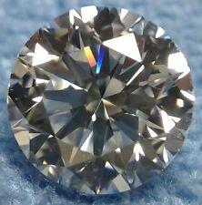 Round 7 mm 1.6 ct Modern Diamond Cut VVS Real White Sapphire Brilliant Solitaire