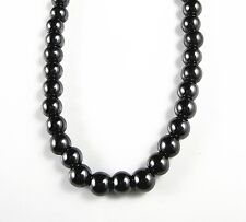 Black Hematite Magnetic Round 6mm Ball Beads Strand Choker Necklace 18""
