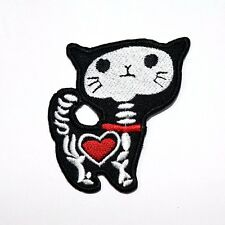 Skull Skeleton Zombie Kitty Cat Rock Punk Motorcycles Shirt Backpack Iron Patch