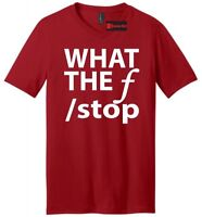 What The F Stop Funny Mens V-Neck T Shirt Photography Photographer Gift Tee
