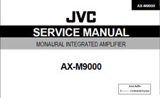 JVC AX-M9000 MONAURAL INTEGRATED AMPLIFIER SERVICE MANUAL BOOK PRINTED ENGLISH