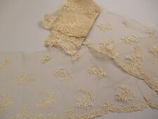 Antique Victorian Net Lace Flounce