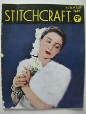 STITCHCRAFT November 1947 - Vintage Needlework Magazine