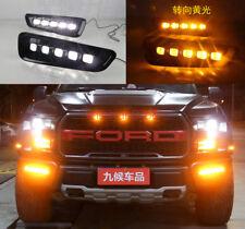 LED DRL For Ford F150 F-150 Raptor 2016 2017 2018 Daytime Running Light W/ Turn