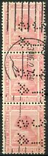 """Egypt 1921-2 SG#90, 5m Pink, """"TC&S"""" Used Strip Of 3 #D90698"""