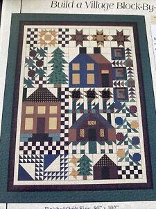 "thimbleberries quilt build a village block by block 80"" x 102"" patterns"