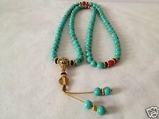 10mm tibet tibetan turquoise buddhist buddha worry prayer bead mala bracelet