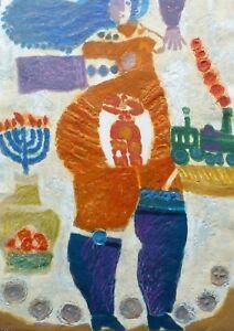 """Theo Tobiasse """" LEA """" HAND SIGNED Etching/Carborundum Israeli/French"""