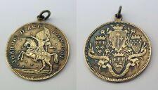Ancienne médaille en métal argenté Jeanne d'Arc 1409-1431.