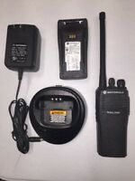 Motorola CP200 VHF 4 ch Radio 146-174 MHz Good Condition With Battery & Charger