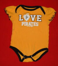 Pittsburgh Pirates Baseball Creeper Baby Clothes Shirt 6 - 9 Months MLB