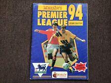 Merlin Premier League 94 Sticker Album 100% COMPLETE FIRST EDITION - 1994