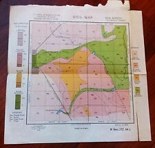 1899 New Mexico Roswell Soil Map US Dept of Agriculture Milton Whitney Chief