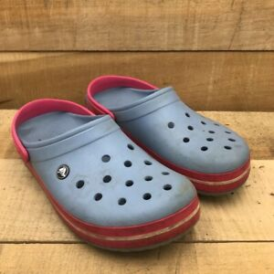 Crocs Mens Clogs Blue Red Slingback Cutout 12
