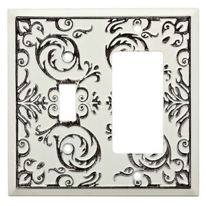 W27111-WW Fairhope White Wash Single Switch / GFCI Decora Cover Plate