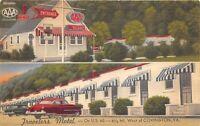 Covington Virginia 1940s Postcard Travelers Motel